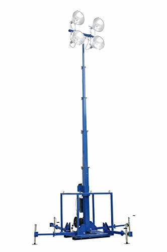4000W 30' High Intensity Light Plant - Skid Mount Five Stage Electric Mast - Cord - Mast Reel