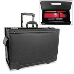 (MOT STEBCO 341626BLK Rolling Catalog Case Leather-Trimmed Tufide 21 3/4 x 15 1/2 x 9 3/4 Black)