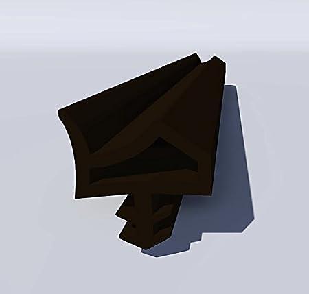 Gummidichtung Dichtungen aus Gummi Tür Fenster Profildichtung Universal Dichtband Holzzargendichtung Flügelfalzdichtung Dichtungsprofil 20 Meter Weiß Herstellerlos