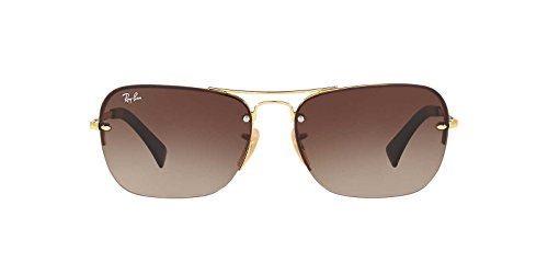 Ray-Ban Mens Gradient Collection Sunglasses (RB3541) Gold/Brown Metal - Non-Polarized - 61mm