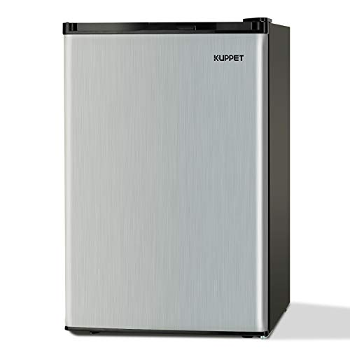 KUPPET Compact Upright Freezer, Single Door, Reversible Stainless Steel Door, Adjustable Removable Shelves, 3.0 cu. ft.