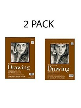 Set of 2 Strathmore 400 Series Drawing Paper Pad - 11 x 14 Inches, 11 x 14 Inches, 2 PACK (Strathmore Drawing 11x14)
