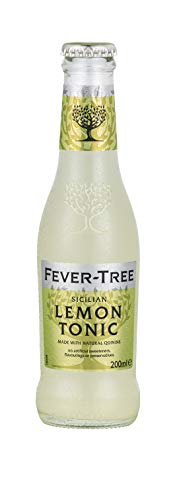 Fever-Tree Sicilian Lemon Tonic Water, 6.8 Fl Oz Glass Bottle (24 ()