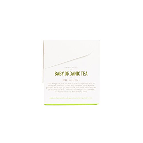 Baby Organic Colic Tea Natural Relief of Colic, Gas, Pain and Irritability. For babies to help calm colic, reflux with only all natural ingredients. Pack of 20