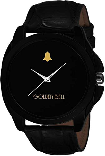 Golden Bell (Label) Analogue Display Black Dial and Leather Strap Men's Watch (MGB0048) (B07GYWD3GK) Amazon Price History, Amazon Price Tracker