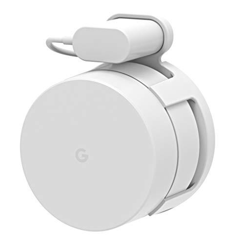 EDEALER[Upgraded] Google WiFi Wall Mount Bracket Holder, EDEALER Simplest WiFi Accessories for Google Mesh WiFi System and Google WiFi Router (No Screws)(White(1 Pack))