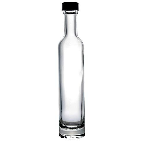 Set of 12 pieces 3.5oz DLX Italian Glass Limoncello Oil Wedding Favor Bottle with ()