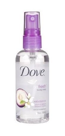 Dove Go Fresh Body Mist Rebalance Plum & Sakura Blossom Scent, 1 Ounce (Pack of 2)