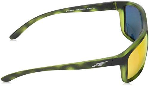 Green Redmultilayer Havana SANDBANK Matte Vert Arnette AN4229 Sonnenbrille p4qw4Rv