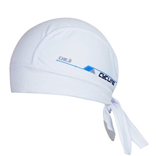 Ksweet Cycling Dew Rag for Men Skull Caps Sweat Beanie Cool Head Wrap Doo Rag Summer Sport Helmet (White )