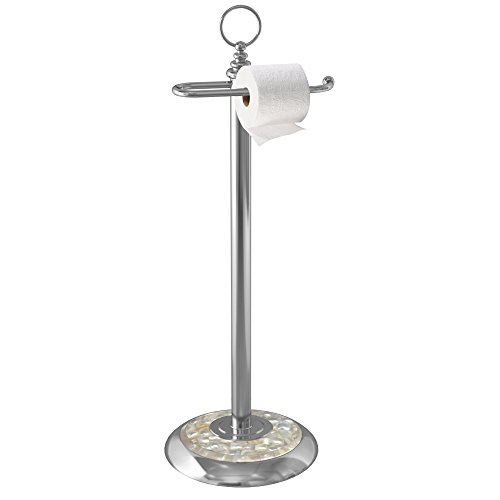 Mop Paper (nu steel Tissue and Mop Roll Stand, Chrome)