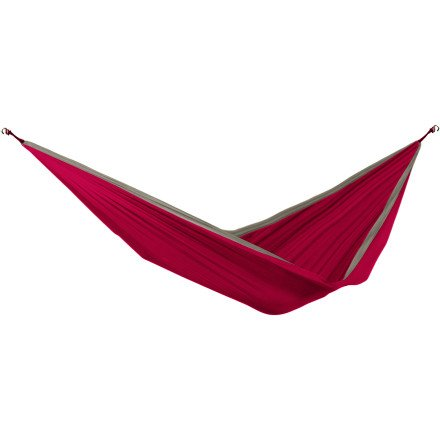Grand Trunk Double Parachute Nylon Hammock (Crimson/Khaki), Outdoor Stuffs