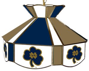 Merveilleux Notre Dame Fighting Irish Teardrop Stained Glass Swag Light