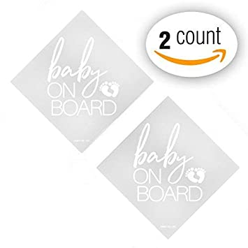 White Babies On Board Baby Car Sticker Sign Safety Vinyl Decal Ebay Motors