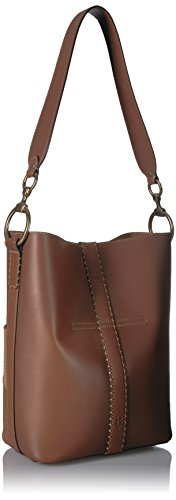 Leather Bag FRYE Hobo Bucket Cognac Color Multi Ilana Block xwxfqnPFO