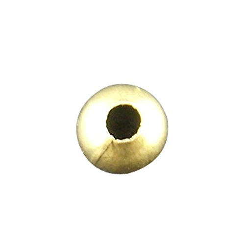 Housweety Bijoux 500 Perles intercalaires Rond Lisse Couleur Bronze 4mm Dia.