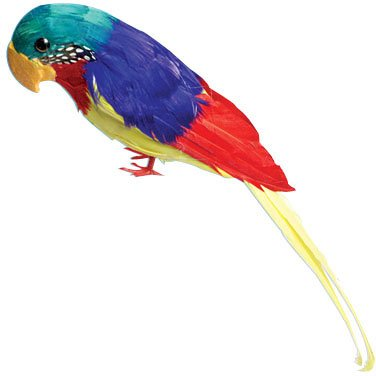 U.S Toy Company Feather Parrot Decoration, 12-Inch]()