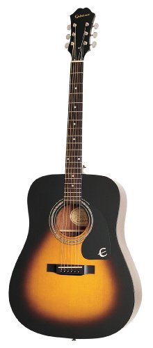 Vintage Dreadnought Acoustic Guitar - Epiphone DR-100 Acoustic Guitar, Vintage Sunburst