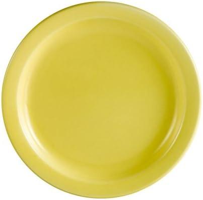 CAC China L-6NR-Y Las Vegas Narrow Rim 6-1//2-Inch Yellow Stoneware Plate Box of 36