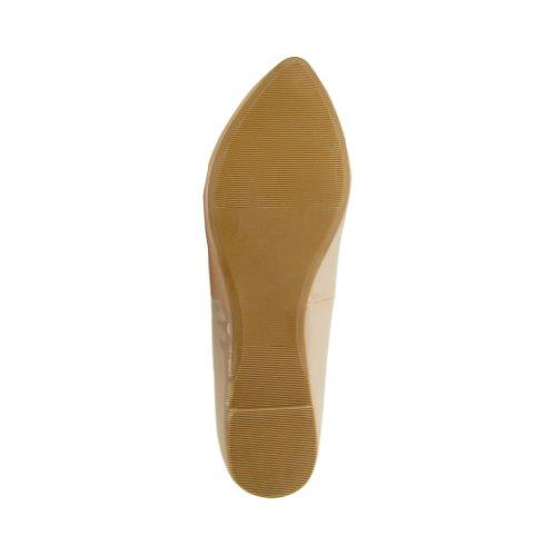 Ciudad Clasificada Mujeres Sadler-s Flats Zapatos Dark Beige