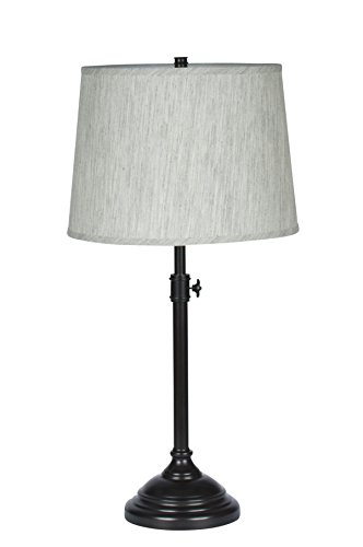 Urbanest Windsor Adjustable Table Lamp, Oil-Rubbed Bronze Finish Lamp Base with Gray (Tone Finish Table Lamps)