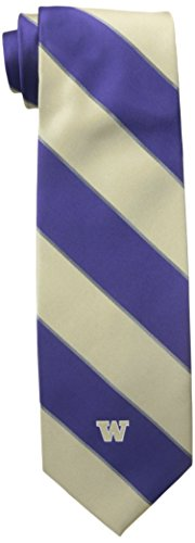 NCAA Washington Huskies Traditional Striped Tie, One Size, Purple