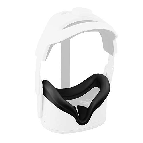 """""""Hoofdkussen Hoofdband voor Oculus Quest 2 Elite Strap +VR-Lensafdekking Zweetbestendige Waterdichte Hoofdband Comfortabele Aanraking Oculus Quest 2-accessoires"""" (Zwart)"""