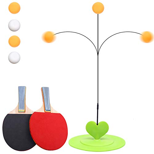 Find Bargain Vigeiya Table Tennis Trainer with Elastic Soft Shaft Portable Equipment Ping Pong Game ...