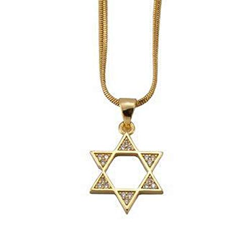 18k Star Of David Crystal necklace - Hebrew Jewish Symbol Faith Spiritual Religious Jewelry Gift Boxed