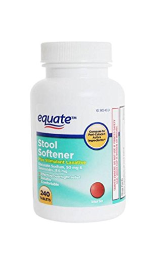 Equate - Stool Softener with Stimulant Laxative, 240 Tablets (Compare to Peri-Colace)