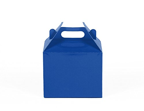 12CT (1 Dozen) Small Biodegradable Kraft / Craft Favor Treat Gable Boxes (Small, Royal (Favor Gable Boxes)