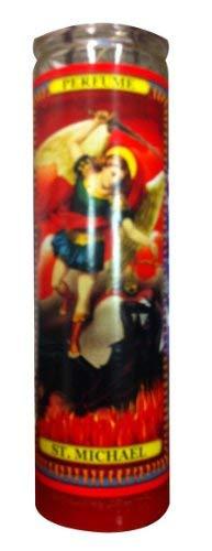 2 St Michael Arch Angel Religious Prayer Candle / San Miguel Novena Vigil Candle/set of 2 St Michael Prayer Candles 2 Veladoras De San Miguel Arcangel / Saint Michael Candle
