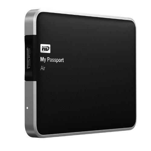 WD My Passport Air 500GB for Mac: Portable, USB 3.0, Ultra-Slim, All Metal Hard Drive (WDBBLW5000AAL-NESN)