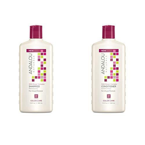 Andalou Naturals 1000 Roses Complex Color Care Shampoo + Conditioner