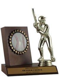 Wood Baseball Plaque - 9