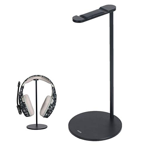 Headphones Stand Sturdy Gming Headset Holder Desk Headset Hanger, Headset Stand with Premium Aluminum Body for All Headphones Size,Non Slip Base,Black