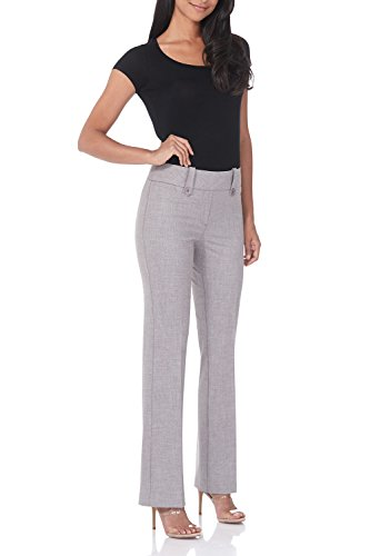 Rekucci Women's Smart Desk to Dinner Stretch Bootcut Pant w/ Tummy Control (4P/4short,Fog)