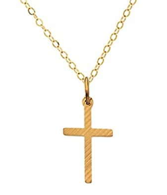 Amazon childrens 14k yellow gold cross necklace 16 religious amazon childrens 14k yellow gold cross necklace 16 religious pendants for boys and girls spiritual jewelry for kids christian cross for tots the aloadofball Images