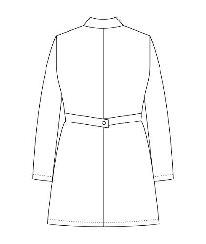 Panda Uniform Custom Women 34 Inch Medical Consultation Lab Coat-Ceil Blue-M by Panda Uniform (Image #6)