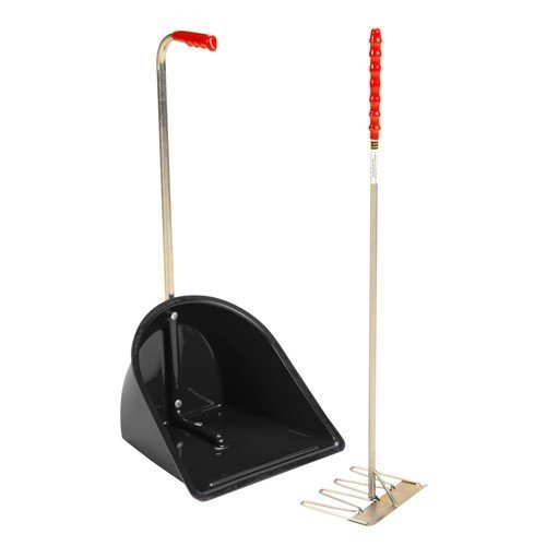 Stubbs Stable Mate Manure Collector High With Rake S4585 (One Size) (Black)