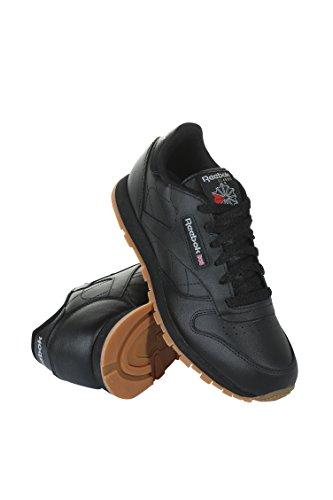 Reebok Kid's Classic Leather Shoe, Black/Gum 6 M US Littl...