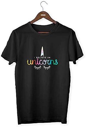 Unicorn - Camiseta de manga corta con diseño de unicornio, multicolor, talla XXL, color negro: Amazon.es: Ropa y accesorios