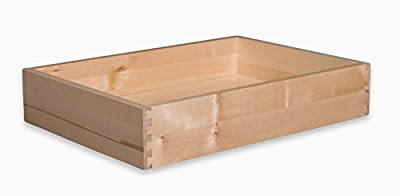 """Cabinet Doors 'N' More 4"""" H x 20"""" W x 18"""" D Solid Wood Drawer Box"""