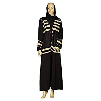 Giro Black Casual Abaya For Women