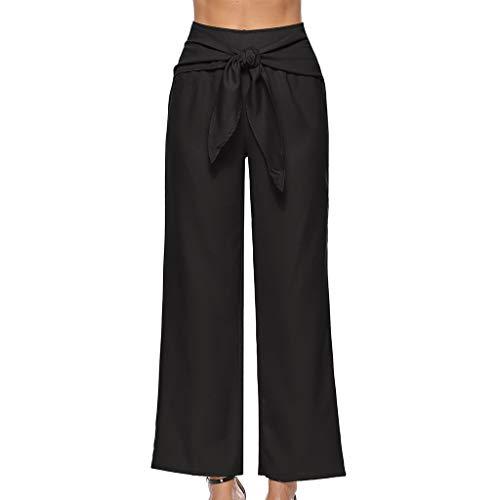 Femme Haute Pants Fityle Équipement Partie Voyage Vêtements Mode Palazzo Accessoires Taille F Capri Noir q6tSR
