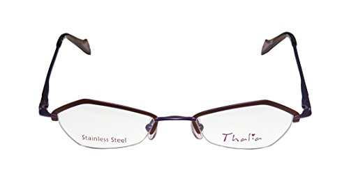 Thalia Beso WomensLadies Designer Half-rim EyeglassesEyewear (46-18-135 Brown  Purple)