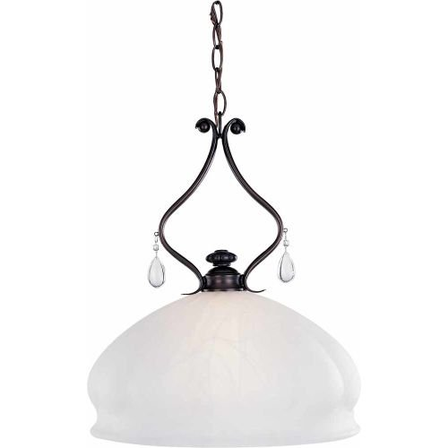 Volume Lighting V4201 Parisian 1 Light Down Light Pendant, Florence Bronze