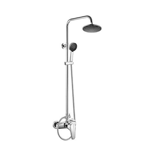 YHNUJMIK Shower Set Two-Piece Shower Set Brass Body Mounted Shower Three-Function Hand Shower