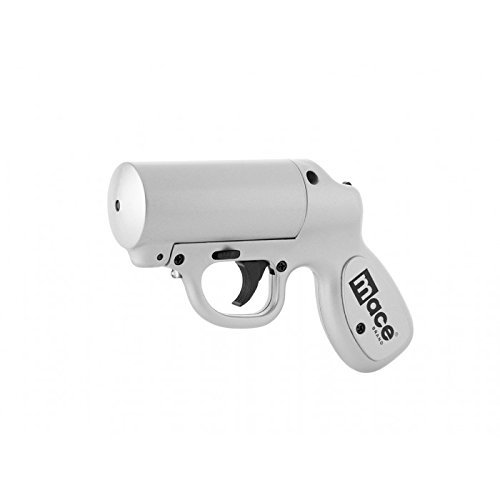 9. Mace Brand Self-Defense Police Strength Pepper Spray Gun with Strobe LED