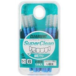 【広栄社】クリアデント歯間ブラシ(お徳用) サイズ6 L 極太 12本入 ×20個セット B00W0GR4DI